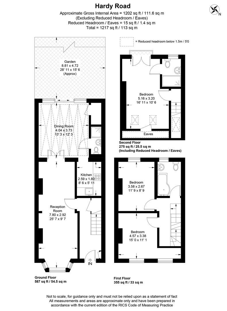 Floorplan for Hardy Road, Wimbledon
